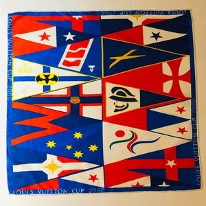 Louis Vuitton Cup 2000 Silk Bandanna Scarf 22""